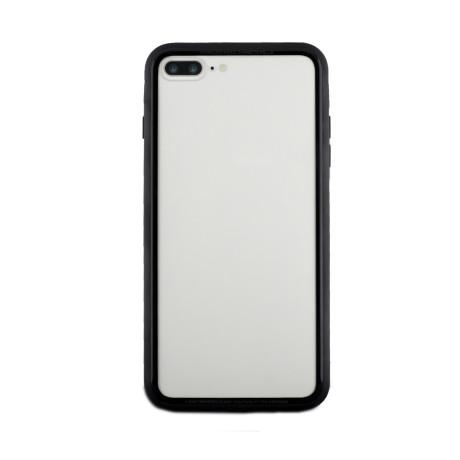 Husa spate sticla iPhone 7 Plus iShield Rama Rosie