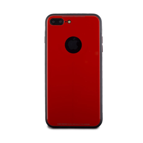 Husa spate sticla iPhone 7 Plus Rosu iShield