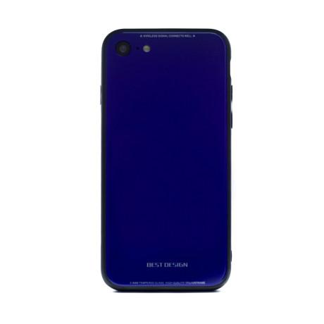 Husa spate sticla iPhone 7/8/SE 2 Albastru Contakt