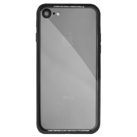 Husa spate sticla iPhone 7/8/SE 2 iShield Rama Aurie