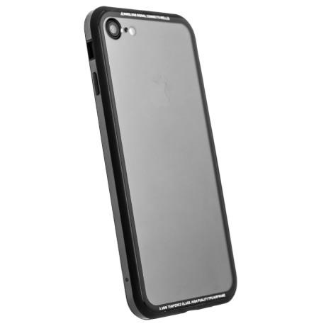 Husa spate sticla iPhone 7/8/SE 2 iShield Rama Gri