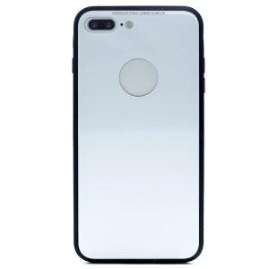Husa spate sticla iPhone 8 Plus Alb ISHIELD