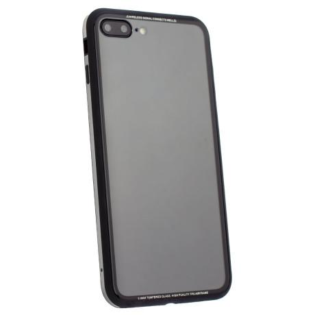 Husa spate sticla iPhone 8 Plus iShield Rama Aurie