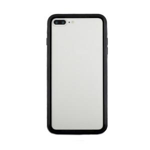 Husa spate sticla iPhone 8 Plus iShield Rama Rosie