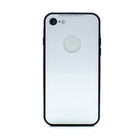 Husa spate sticla iPhone 8/SE 2 Alb iShield