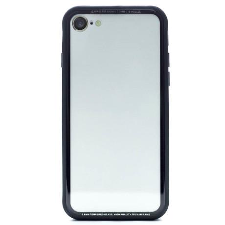Husa spate sticla iPhone 8/SE 2 iShield Rama Aurie