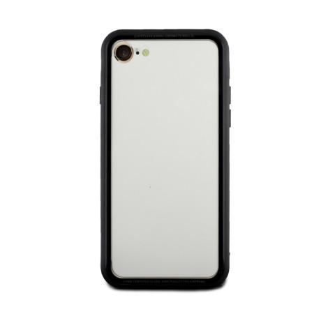 Husa spate sticla iPhone 8/SE 2 iShield Rama Rosie