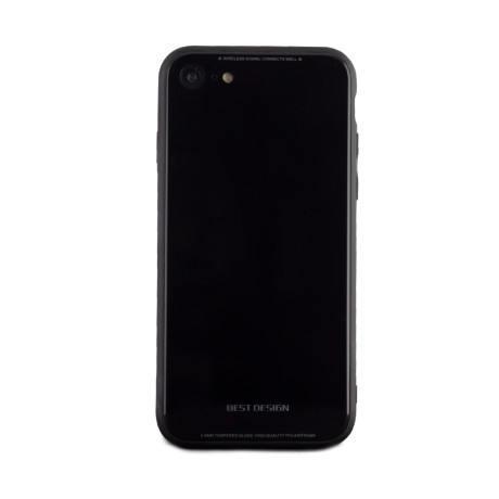 Husa spate sticla iPhone 8/SE 2 Negru iShield