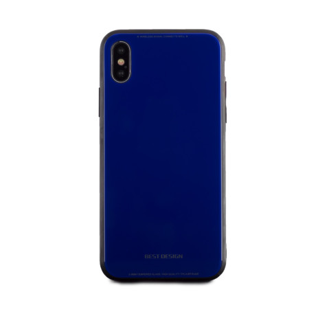 Husa spate sticla iPhone X Albastru
