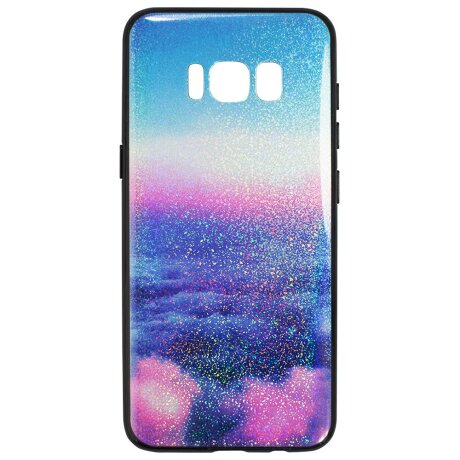 Husa spate sticla Samsung Galaxy A8 2018 Abstract
