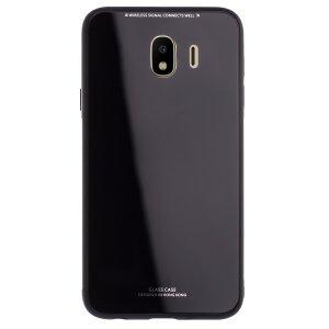Husa spate sticla Samsung Galaxy J4 2018 Contakt Neagra