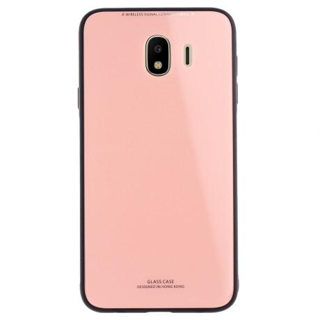 Husa spate sticla Samsung Galaxy J4 2018 Contakt Roz