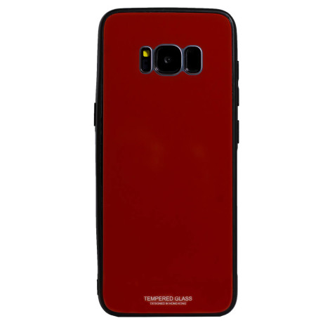 Husa spate sticla Samsung Galaxy S8 Rosu