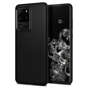 Husa Spigen pt. Samsung Galaxy S20 Ultra Liquid Air Matte Black