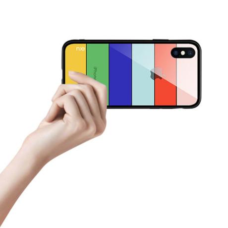 Husa Sticla iPhone XS 5.8'' Printing Strips, Nxe, Style B