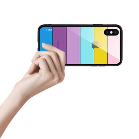 Husa Sticla iPhone XS Printing Strips, Nxe, Style C