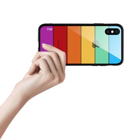 Husa Sticla iPhone XS 5.8'' Printing Strips, Nxe, Style D