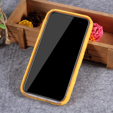 Husa TPU iPhone XR 6.1'' Fluffy Fur Galbena