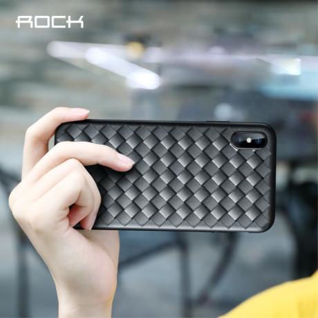 Husa TPU iPhone XS Max, Woven Pattern Neagra Rock
