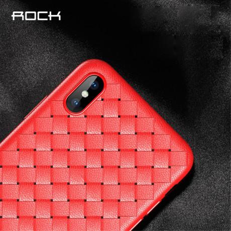 Husa TPU iPhone XS Max 6.5'', Woven Pattern Rock Rosie