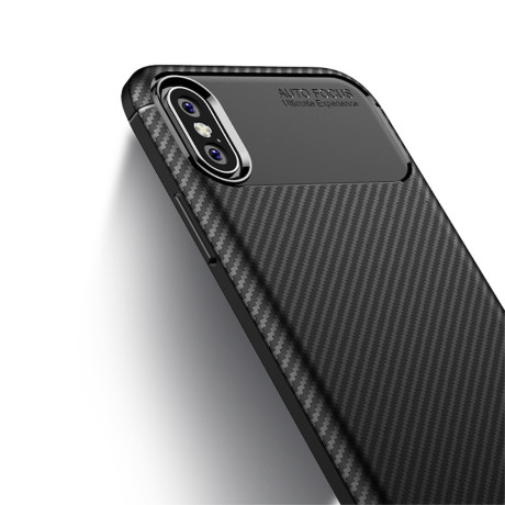 Husa TPU iPhone X/Xs Airbag Case Neagra Ipaky
