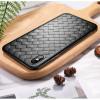 Husa TPU iPhone X/XS Woven Pattern Neagra Rock