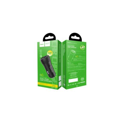 Incarcator Auto Dual USB, Fast Charge Hoco Z21 Negru