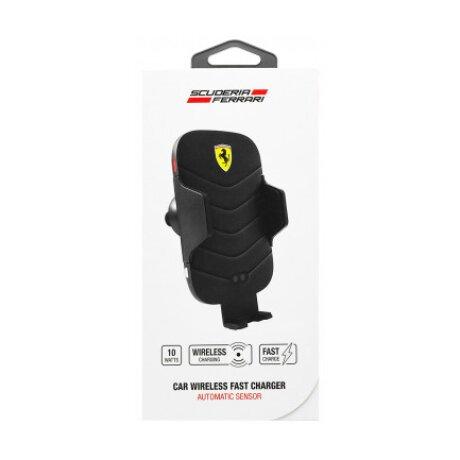 Incarcator Auto Ferrari FECCWLPDBL Wireless QC 3.0 10W Black