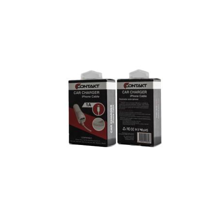 Incarcator auto lightning 1X USB Contakt Alb 1A