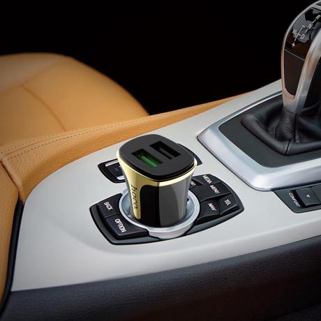 Incarcator auto Z31 Hoco QC3.0 + Cablu Micro USB Negru