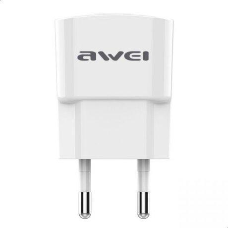 Incarcator Retea Awei 2xUsb cu Cablu Date Lightning 1m Alb
