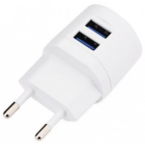 Incarcator Retea Awei  2xUsb + Cablu Date Micro Usb 1m Alb