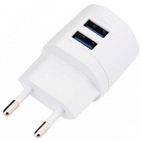 Incarcator Retea Awei  2xUsb si Cablu Date Micro Usb 1m Alb