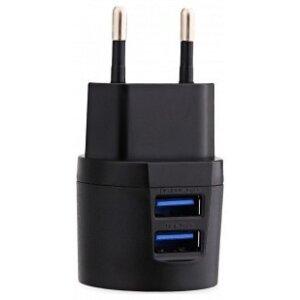 Incarcator Retea Awei 2xUsb + Cablu Date Micro Usb 1m Negru