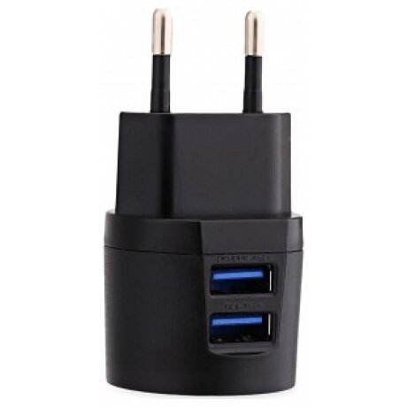 Incarcator Retea Awei 2xUsb cu Cablu Date Micro Usb 1m Negru