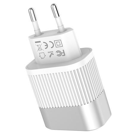 Incarcator Retea cu led 2x USB C40A Hoco Alb