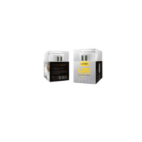 Incarcator retea cu led 2x USB + cablu lightning Ldnio AC2205