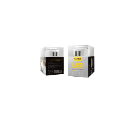 Incarcator retea  cu led 2x USB + cablu micro usb Ldnio AC2205