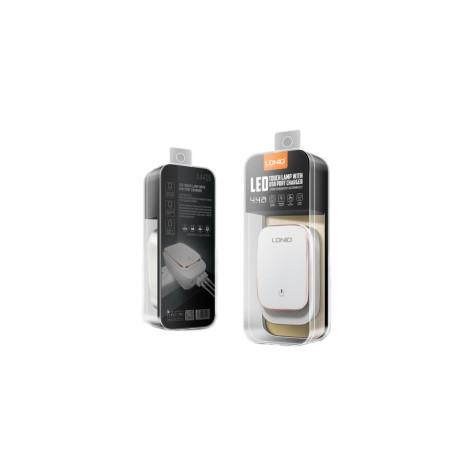 Incarcator Retea cu led 4x USB + Cablu Lightning, Fast Charge Ldnio