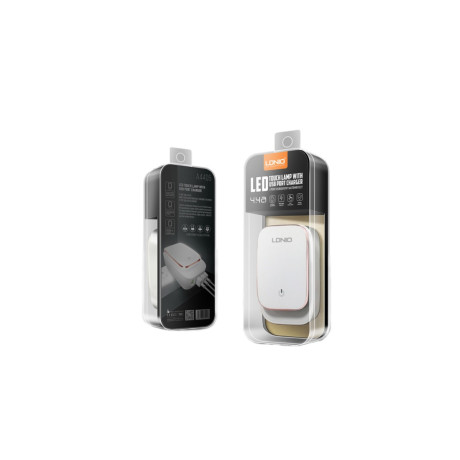 Incarcator Retea cu led 4x USB + cablu Micro USB, Fast Charge Ldnio