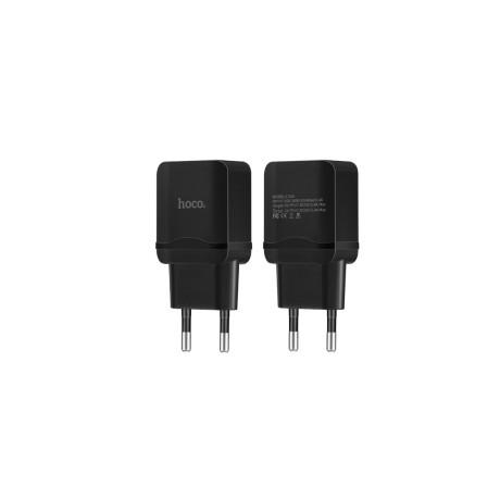 Incarcator retea Dual USB, Hoco C33A Negru