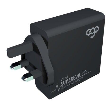 Incarcator Retea Ego Superior PD-510 4xUsb QC 3.0 70W Negru