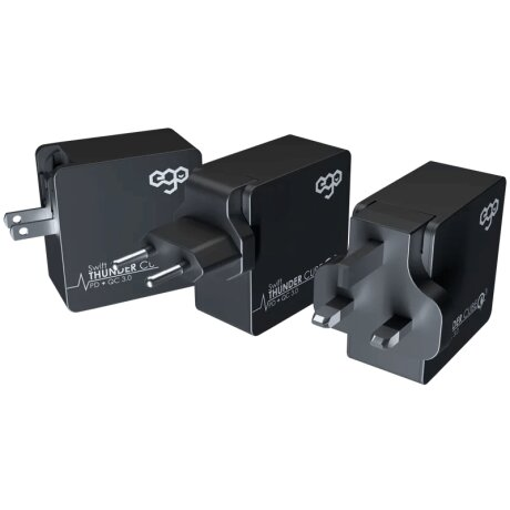 Incarcator Retea Ego Thunder Cube  2xUsb QC 3.0 43W Negru