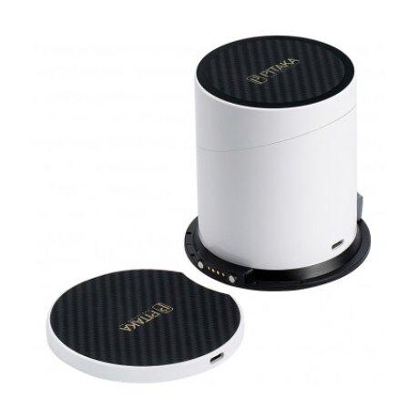 Incarcator Retea Pitaka Wireless MagDock pentru Apple Watch si Telefon MD1001P QC 3.0 10W Alb