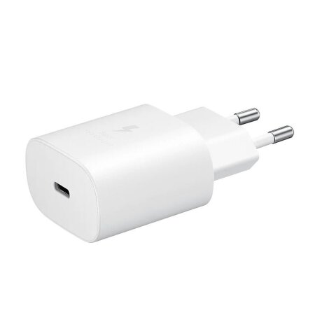 Incarcator Retea Samsung  USB C cu cablu USB C QC 3.0 25W Alb