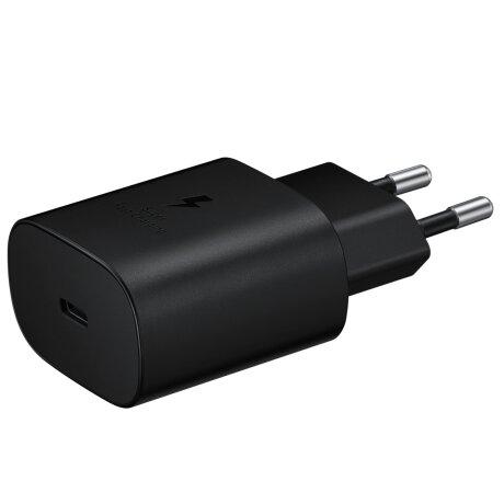 Incarcator Retea Samsung USB C cu cablu USB C QC 3.0 25W Negru