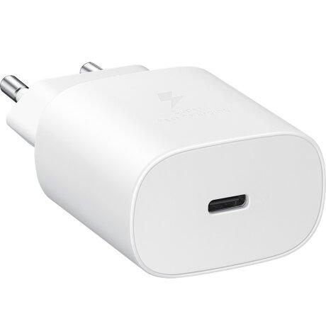 Incarcator Retea Samsung USB C cu cablu USB C QC 3.0 45W Alb
