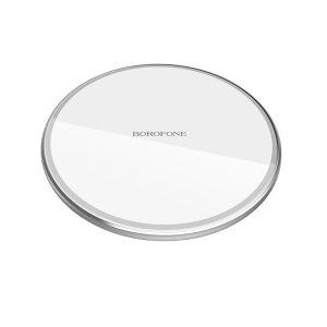 Incarcator Wireless Borofone BQ3 5W/7.5W/10W Argintiu