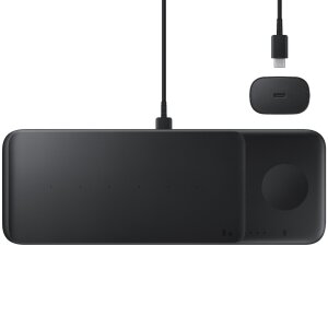 Incarcator Wireless Samsung Trio Pad Usb-Type C 25W Black