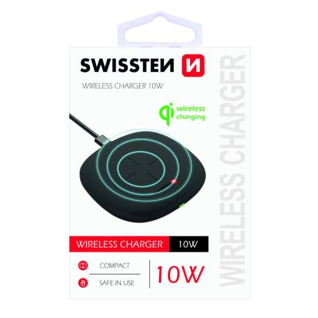 Incarcator Wireless Swissten 10W Negru